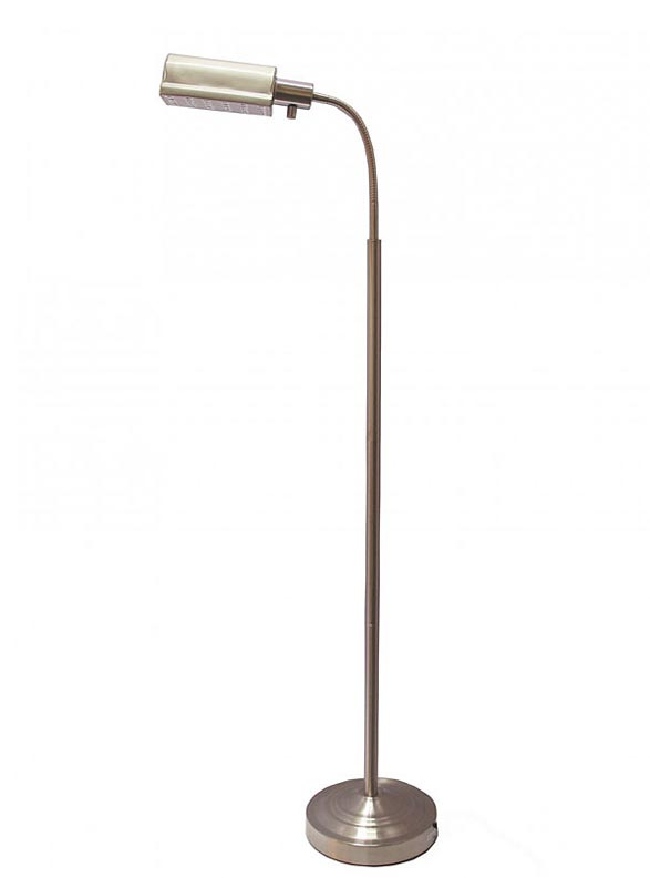 Natural Daylight Battery Operated Cordless Daylight Floor Lamp, Brushed Nickel, 402051-15